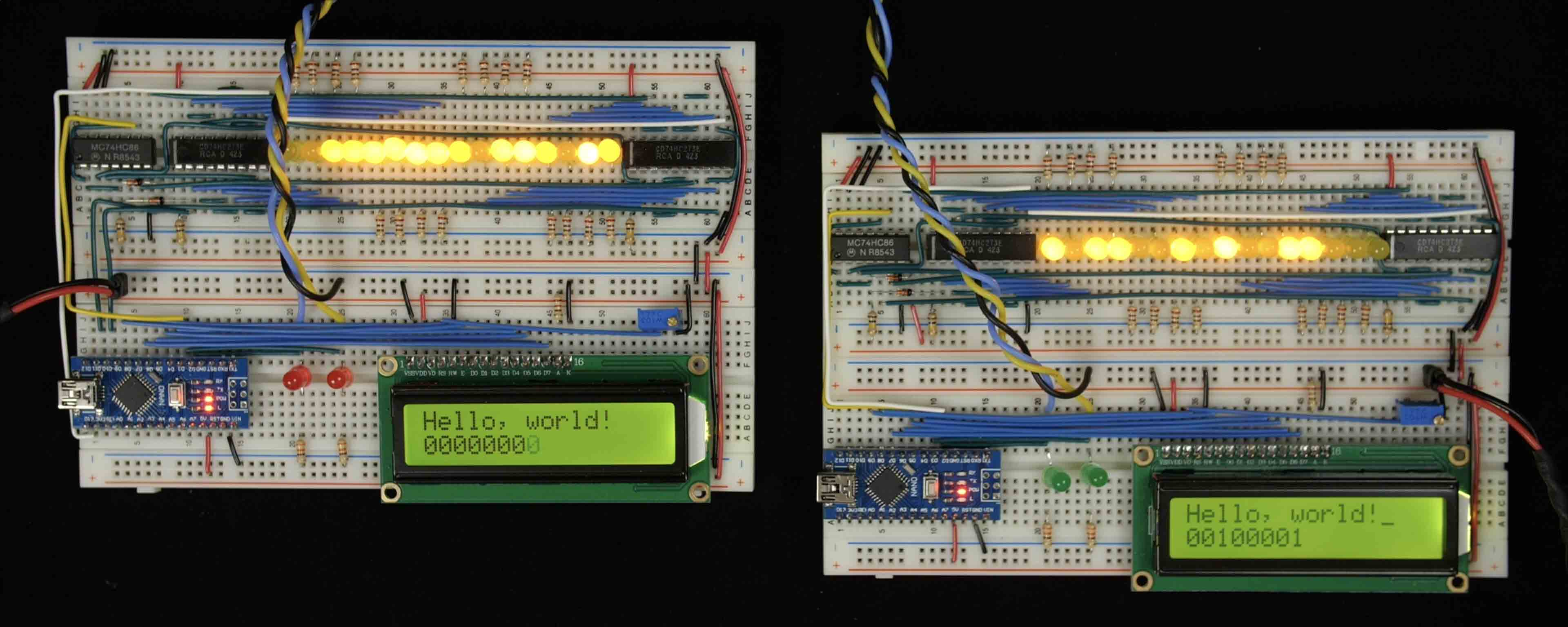 Ben Eater Parallel Circuit Breadboard The Read Board Is Broken Up Learn About Error Detection