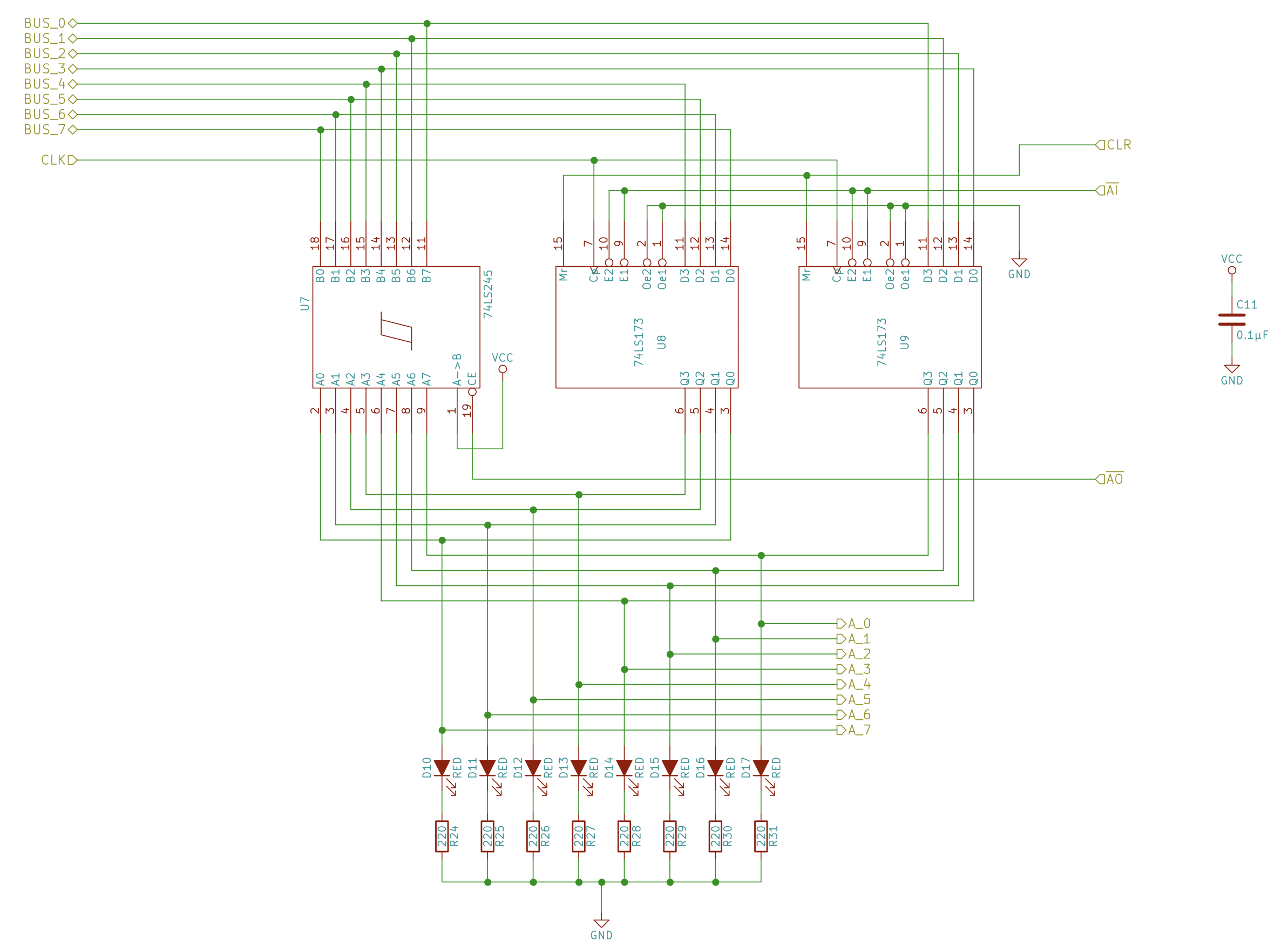 Build An 8 Bit Computer Ben Eater Circuit Diagram Of Alu Schematic The A Register