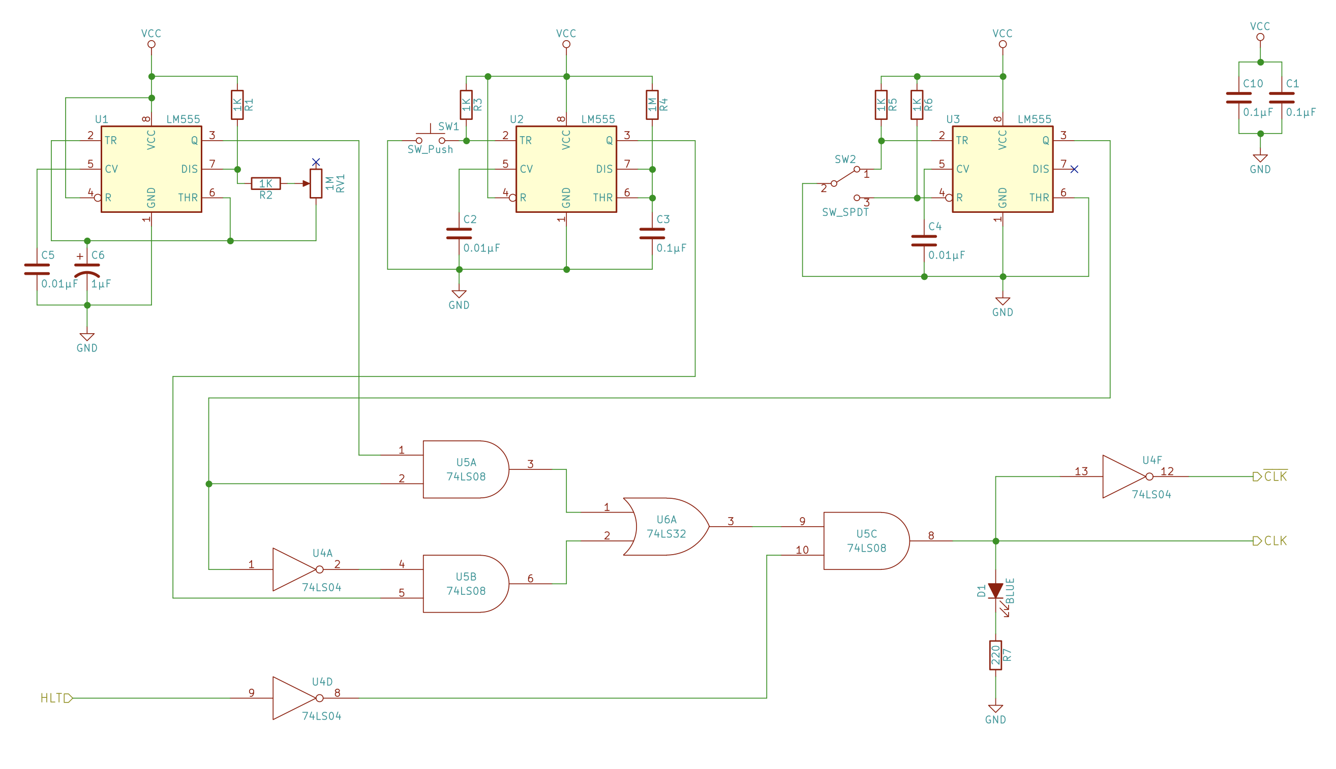 Build An 8 Bit Computer Ben Eater 555 Timer Basics Astable Mode Discuss This Tutorial